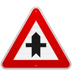Crossroads sign vector