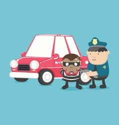 Motor vehicle theft vector