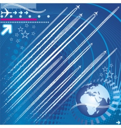 design elements of jet trails vector image