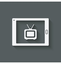 Online tv symbol vector