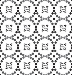 Seamless pattern of circles and diamonds vector