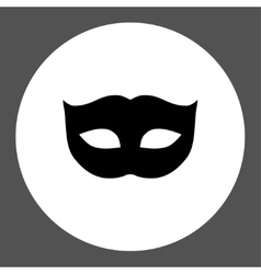 Privacy mask flat black and white colors round vector