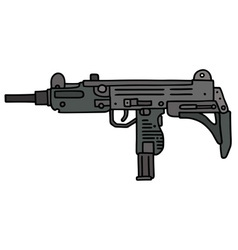 Short automatic gun vector
