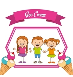 delicious ice cream vector image