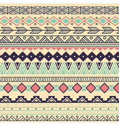 Aztec tribal pattern in stripes vector