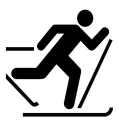Skiing symbol vector