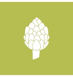 Artichoke Vegetable Icon vector image vector image