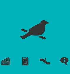 bird icon flat vector image vector image