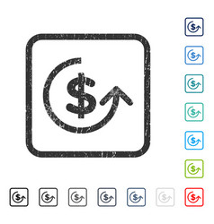 Chargeback icon rubber watermark vector