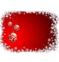 christmas illustration with red glass vector image