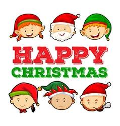 Christmas theme with santa and elf vector
