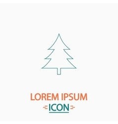 Christmas tree computer symbol vector