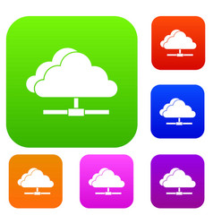 Cloud computing connection set collection vector
