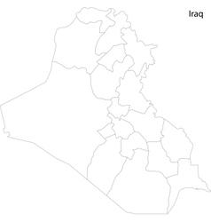 Contour iraq map vector
