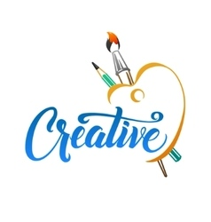 Creative calligraphic colorful poster with vector