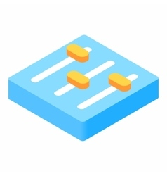 Equalizer button isometric 3d icon vector
