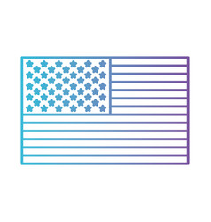 flag united states of america flat icon in color vector image