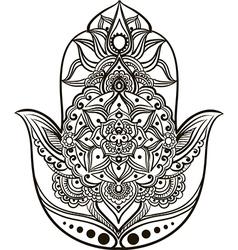 hamsa line art vector image