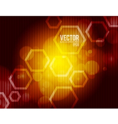 Hexagon abstract background vector image vector image
