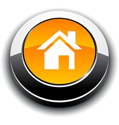 Home 3d round button vector