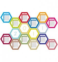 honey comb calendar vector image
