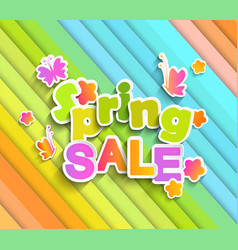 inscription spring sale with butterfly vector image vector image
