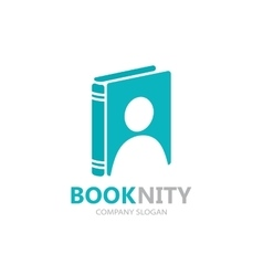 logo combination of a book and man vector image vector image