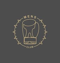Mens Club logo Emblem for sports club for men Sign vector image vector image