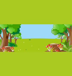 nature scene with trees and field vector image vector image