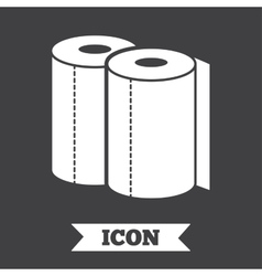 Paper towels sign icon Kitchen roll symbol vector image