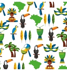 Pattern tropical set icons vector