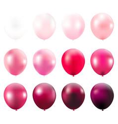 Pink balloons card vector