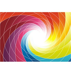 Rainbow spiral - bright colorful background vector image vector image