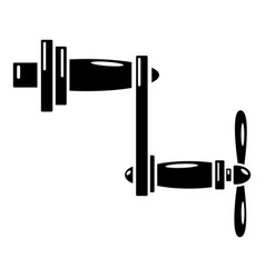 Rotary handle icon simple style vector