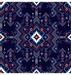seamless festive tribal pattern vector image vector image
