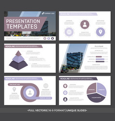 Set of purple elements for multipurpose vector
