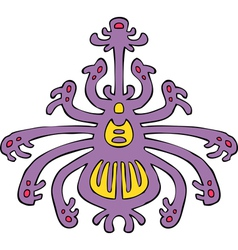 spider lilac pattern vector image vector image