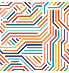striped colorful seamless geometric pattern vector image