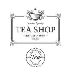 Tea shop vector image