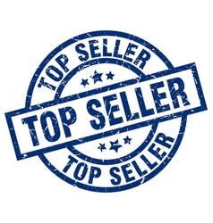 Top seller blue round grunge stamp vector