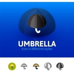 Umbrella icon in different style vector image