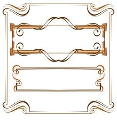 Vintage beautiful elegant frame Set of elements vector image