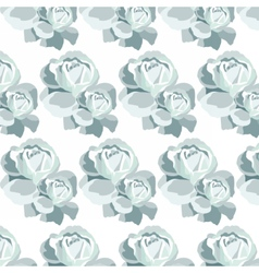 Watercolor blue roses pattern vector