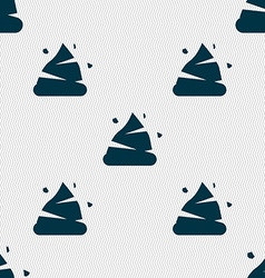 Poo icon sign seamless pattern with geometric vector
