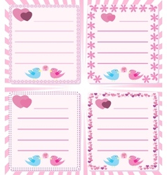 Love message birds tweet vector