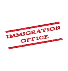 Immigration office watermark stamp vector