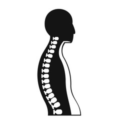 Human spine icon simple style vector