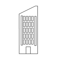 Building business hotel urban real estate vector