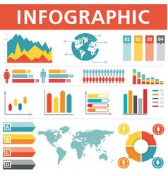 Demographic infographics set vector