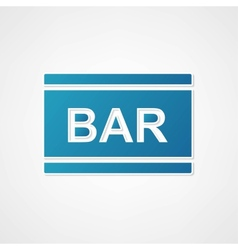 Sign bar blue vector